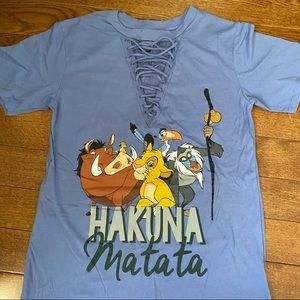 Lion King lace up tee